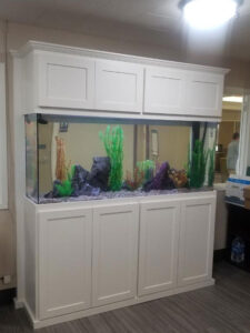 White Design on a Fish Tank Stand
